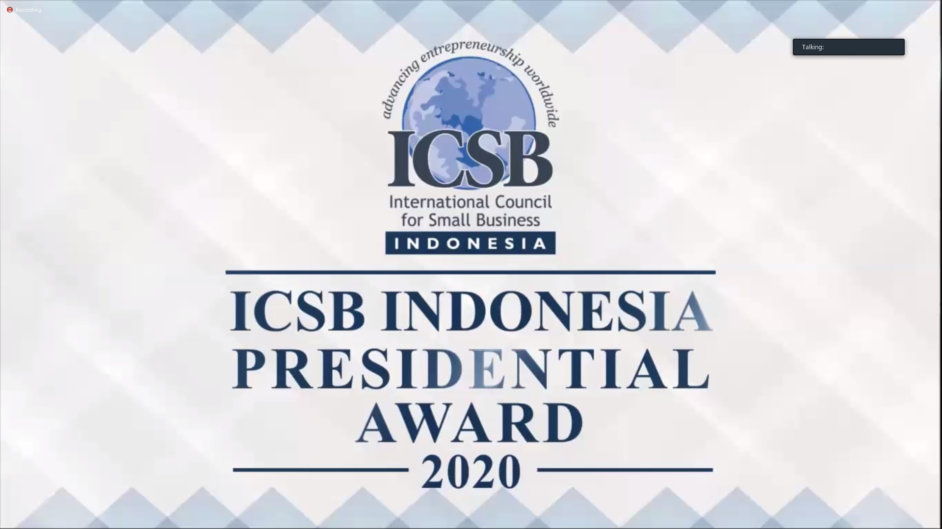 Kemendag Menerima Penghargaan Indonesian Council for Small Business (ICSB) Indonesia  Presidential Award