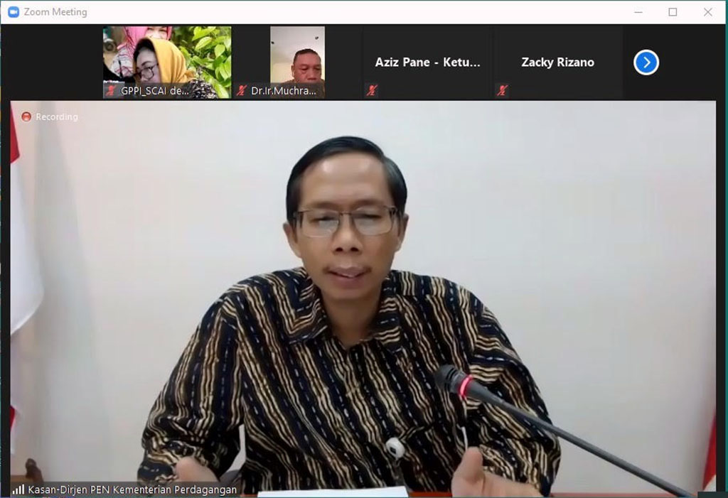 Sosialisasi Trade Expo Indonesia Virtual Exhibition (TEI-VE) 2020 kepada Asosiasi