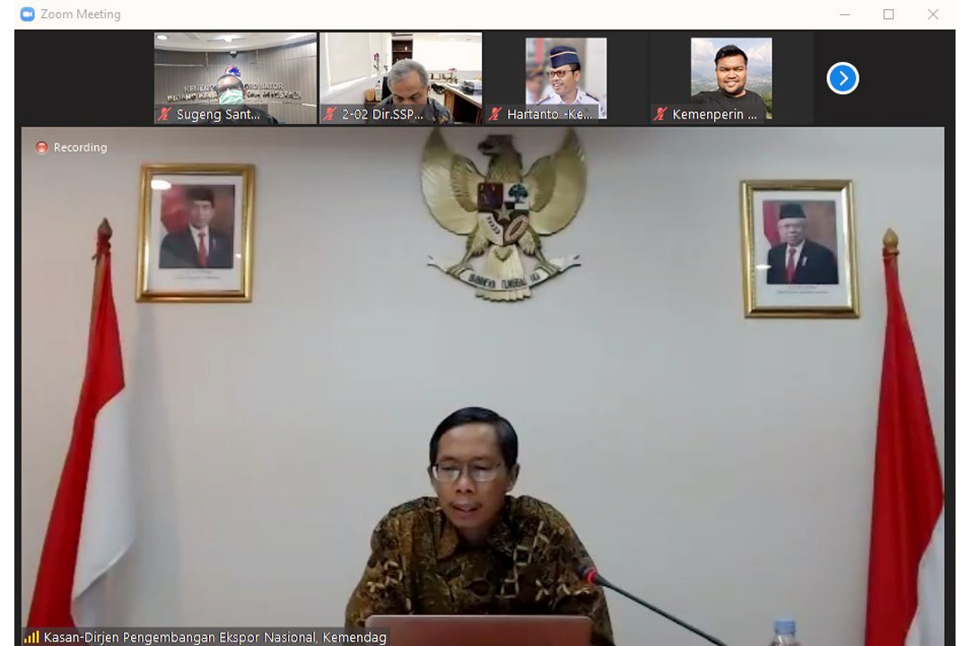 Sosialisasi Trade Expo Indonesia Virtual Exhibition (TEI-VE) 2020 kepada Kementerian/Lembaga