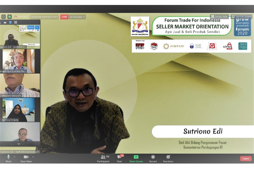 "Webinar Forum Trade for Indonesia ""Seller Market Orientation"""